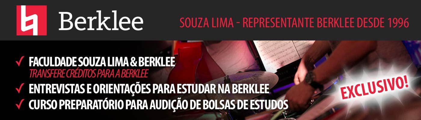 Souza Lima - Representante Berklee desde 1996. ✓ Faculdade Souza Lima & Berklee transfere créditos para a berklee ✓ entrevistas e orientações para estudar na berklee ✓ Curso Preparatório para audição de bolsas de estudos